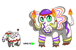 Fakemon - Pyrophant and Embotrance by sl4ughtermelon