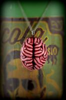 Human Brain Necklace by NeverlandJewelry