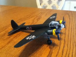 Junkers Ju-88: Side View by cloudyrainbow561