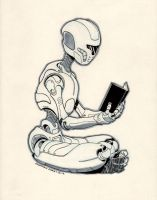 Reading Robot by jtchan