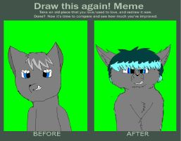 before after stormfur by Wolvestorms