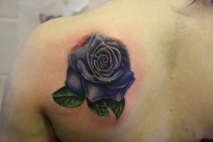 Blue rose by SimplyTattoo