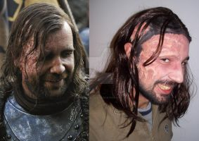 Sandor Clegane make-up by CalamityJade