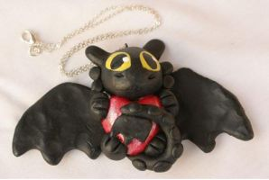 Toothless Sculpture by Dragon-Wolf-Lover