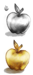 Art Practice - Neopets Silver Apple by EuchredEuthanasia
