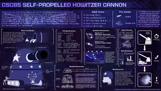 EAF - CSCBS Howitzer Cannon by smokeybacon