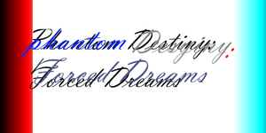 phantom destiny: forced dreams logo by thekirbyclaw