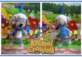 Animal Crossing: NL Shep Needlefelt keychain by Rainbowbubbles