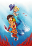 Underwater Adventures (mer!AU One Piece fanart) by MajorasMasks