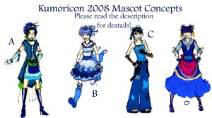 Kumoricon Mascot Concepts by terriblenerd