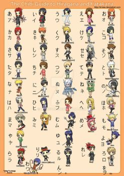 The Chibi Guide to Hiragana by WickedRin