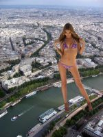 Miranda Kerr by the Seine by Accasbel