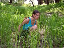 Lara Croft - waiting for enemy by TanyaCroft