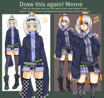 Draw This Again - Meme - Momo by DeathatSunrise