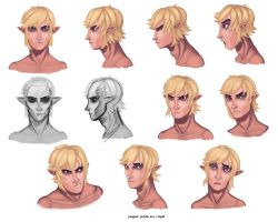 Link Model Sheet - Head by 89ravenclaw