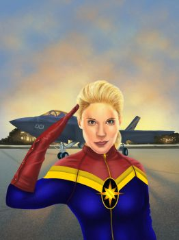 Captain Marvel by Cellaneo