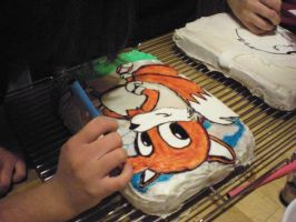 tails n taz cakes in progress by toastles