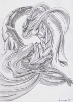 Sketch-dragoness by Fly-Sky-High