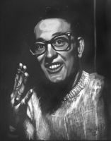 Buddy Holly my painting by cliford417