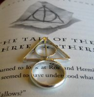Deathly Hallows Silver Ring by Peaceofshine