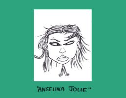 Angelina Jolie Caricature by Sherkeylock