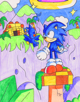 Sonic in Flicky's Island by JamesmanTheRegenold