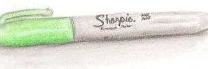 Lime Green Sharpie by Darkness-Fang