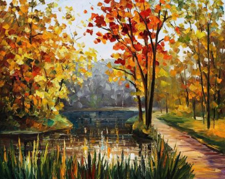 FOREST STREAM by Leonid Afremov by Leonidafremov