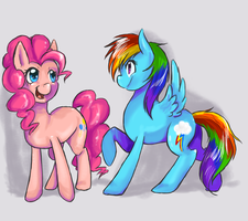 Rainbow Dash and Pinkie Pie by XxMURPLExX