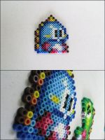 Bubble Bobble Blue Dino bead sprite by 8bitcraft