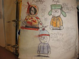 kyle,stan,kenny from southpark by spandy123