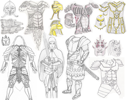 TES armor sketches by ImsumDave