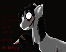 Jeff The Killer: Pony by Hawkface7