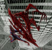 Spiderman Vs Carnage by drone-otd-obsone