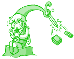 Link and Ezlo Sketch by JamesmanTheRegenold