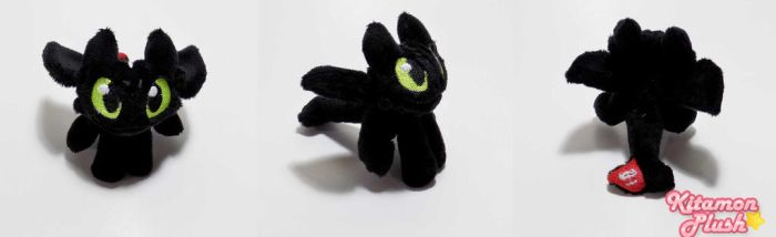 How to Train your Dragon - Toothless custom plush by Kitamon