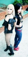 black canary and wonder woman by lulysalle