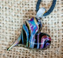 Handmade Glass Heart Pendant by copperrein
