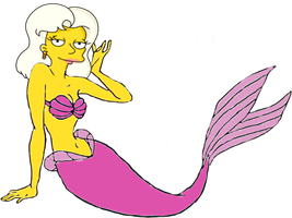 Miss Springfield as a Mermaid by darthraner83