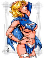 Savage Land Supergirl Amalgam by gb2k