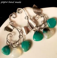 Ivy earrings by yagnahandmade