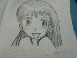 embarrassed Manga girl face uncoloured by wee4536