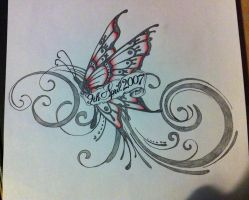 Butterfly tattoo by Mr-P-P-Hed