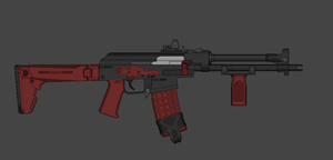 Crimson Skeleton Competition AK Version 2 by madmonty98
