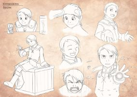 Gestures and Expressions - Xeon by Koru-Xypress