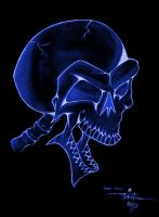 Gothic Skull (electric) by BlueDraken