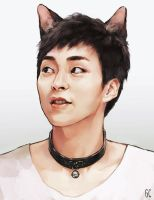 cat xiumin by genicecream