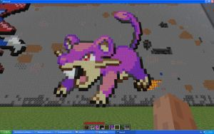 Rattata On Minecraft by Miccopicco