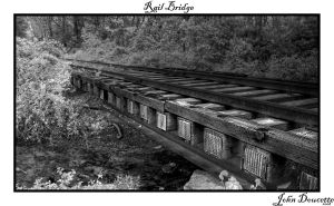 Rail Bridge over creek. by JohnDoe6