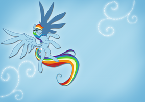 Rainbowdash Wall paper by twistedlove